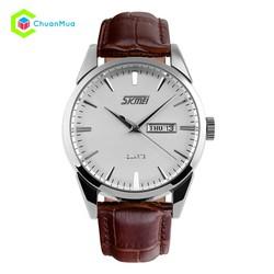 Đồng hồ Nam Skmei 9073 kim kim D0178-DHA058 - Mặt trắng viền bạc