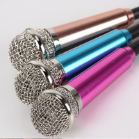 Micro hát karaoke trên điện thoại mini nhiều màu
