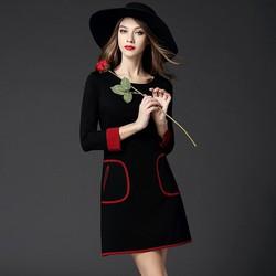 Đầm nữ dài tay thời trang, phong cách thanh lịch