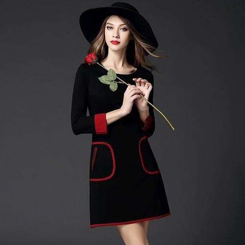 Đầm nữ dài tay thời trang thanh lịch - D040