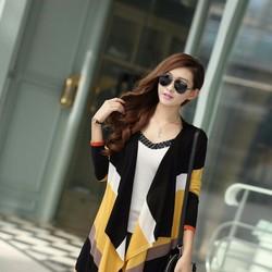Áo khoác cardigan len nữ vạt rủ phá cách, mẫu mới phối màu ấn tượng.