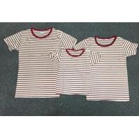 Combo 3 áo thun gia đình trắng sọc đỏ - GĐ 645