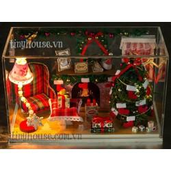 Mô hình nhà gỗ DIY -Đên giáng sinh -G013 -TINY HOUSE SHOP