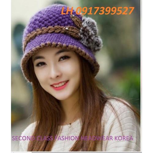 NÓN mũ LEN HAI LỚP THỜI TRANG HÀN QUỐC L12128