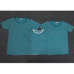 Combo 3 áo thun gia đình sọc xanh lý- GĐ 645