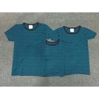 Combo 3 áo thun gia đình đensọc xanh E - GĐ 645