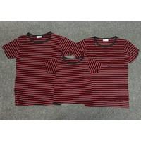 Combo 3 áo thun gia đình kẻ sọc đen đỏ -  GĐ 645