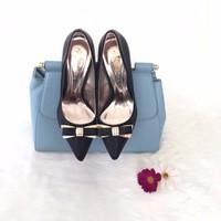 C054- Giày cao gót đính nơ điệu đà, nữ tính