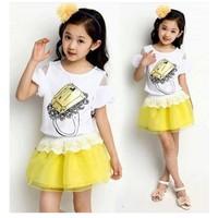 Bộ áo thun phối váy dạo phố cực xinh NX010