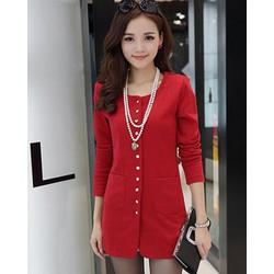 Áo khoác nút Nirita - Shop hết màu đỏ