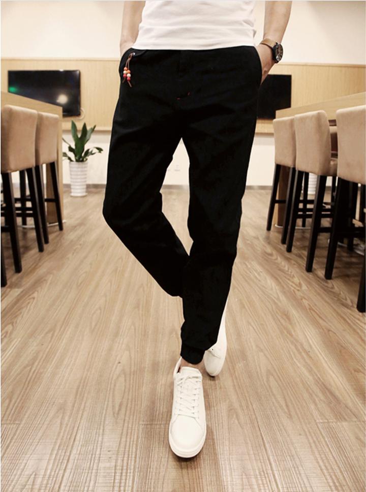Quần Jogger Kaki  Hàn Quốc lưng thun khóa zip J5 4