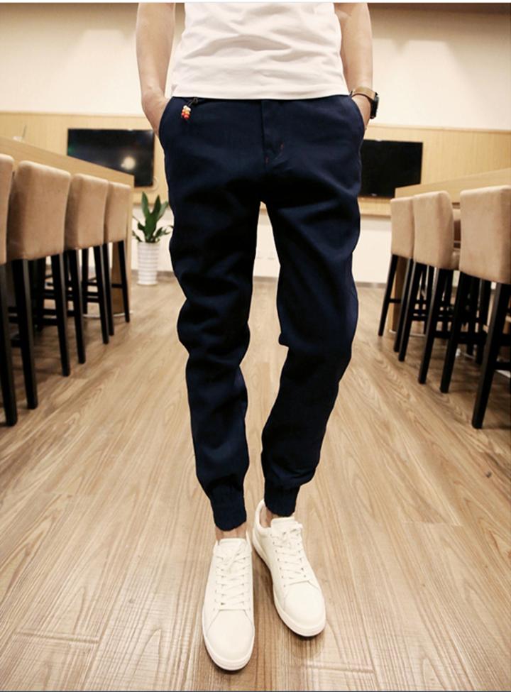 Quần Jogger Kaki  Hàn Quốc lưng thun khóa zip J5 2