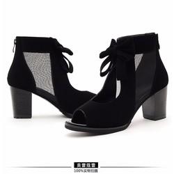 HÀNG LOẠI I: Giày cao cổ đính nơ VNXK