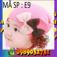 Nón len tóc giả Hàn Quốc cho bé - E9