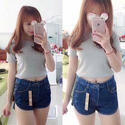 Quần Short Jean Lưng Cao Dây Kéo 2 Bên - Nyn House Shop