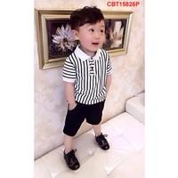 Bộ đồ áo thun cotton kẻ sọc kèm quần kaki cực đẹp cho bé từ 1- 8 Tuổi