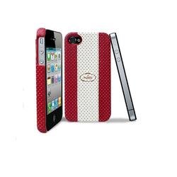 Ốp lưng cho Iphone 4,4s  Puro Golf Cover - Đỏ trắng