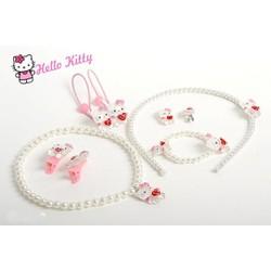 Bộ Trang Sức Hello Kitty Xinh Xắn Cho Bé Gái