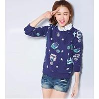 áo thun nữ giả 2 áo con cú Mã: AX2600 - 2
