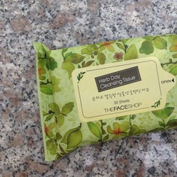 Khăn giấy tẩy trang Herb Day Cleansing Tissue 20 Sheets THE FACE SHOP