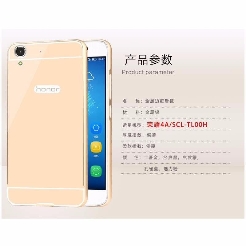 Huawei Ascend G7 - Ốp lưng kết hợp viền kim loại và nắp nhựa Acrylic 2