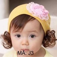 Mũ len tóc giả Hàn Quốc cho bé - J3