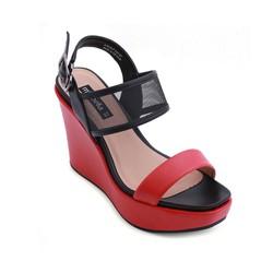 Giày xăng đan đế xuồng quai ngang 537 màu đỏ