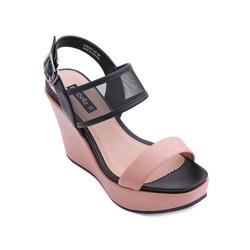 Giày xăng đan đế xuồng quai ngang màu hồng 537
