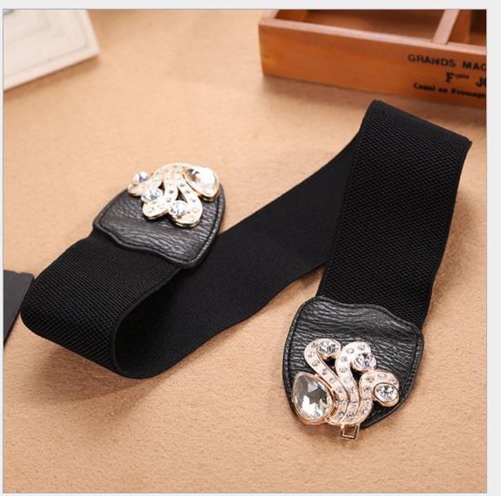 thắt lưng, dây nịt nữ thời trang hoang mạc rhinestone thời trang khảm 4