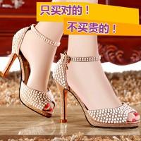 Giày cao gót nữ đính hạt  Kt077
