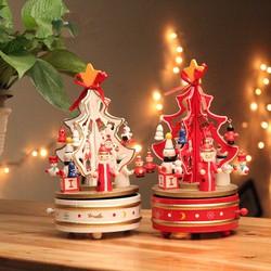 Hộp Nhạc Gỗ Cây Thông Giáng Sinh