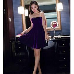 Đầm Nhung Cúp Ngực Quyến Rũ - S200
