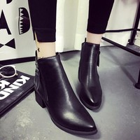 Giày bốt nữ da, phong cách siêu cổ điển BT226D - Doni86.com
