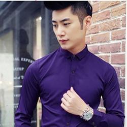Áo sơ mi nam màu tím vải cực đẹp