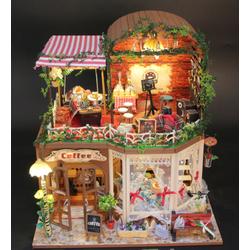 Mô hình nhà gỗ DIY - Cafe nhạc sống - D015 -TINY HOUSE SHOP