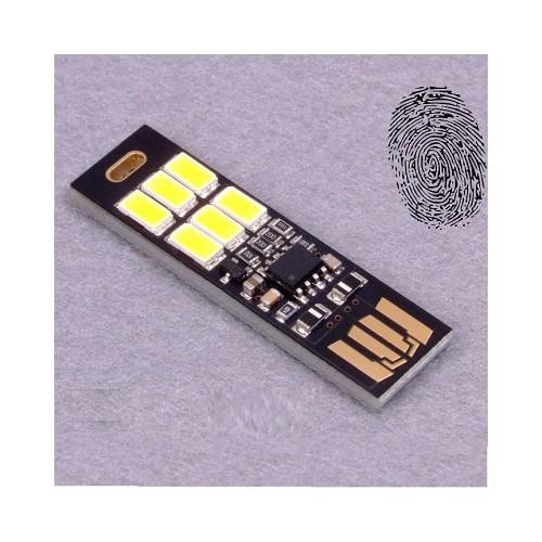 Đèn 6 led cắm cổng USB cảm ứng siêu mỏng