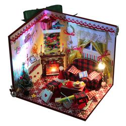 Mô hình nhà gỗ DIY - Merry Chrismast - D027 -TINY HOUSE SHOP