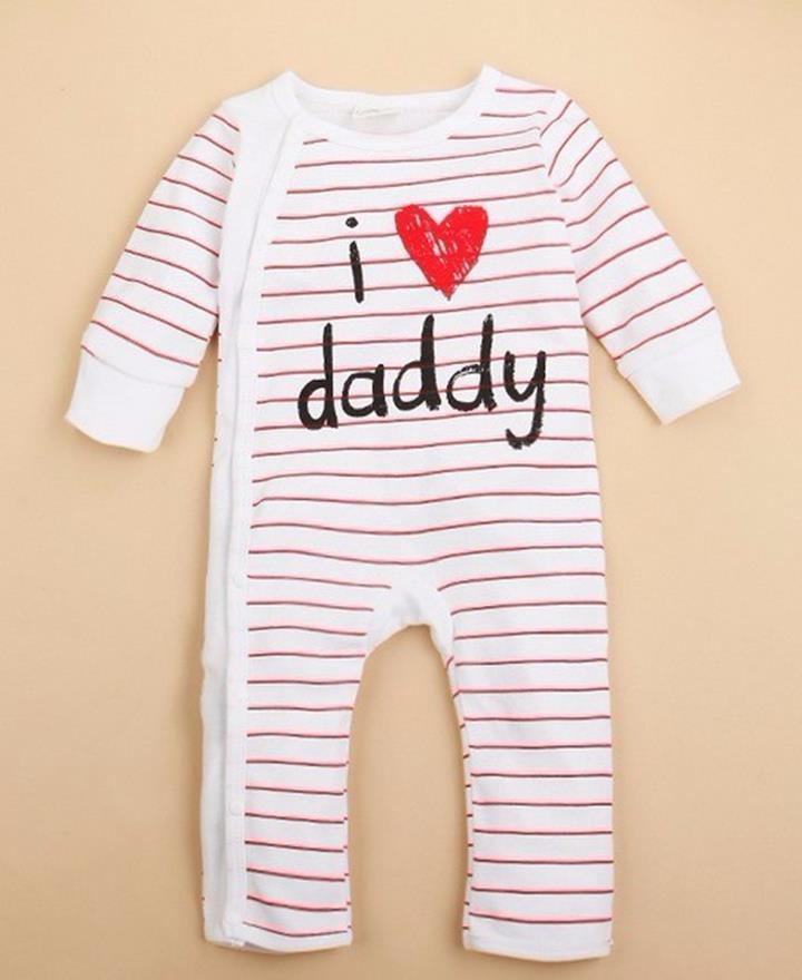 Set 2 body dai tay I love Dad, Mom 4
