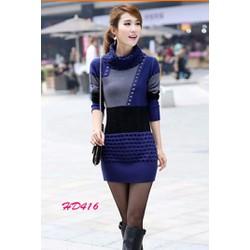 Đầm len TD416 đẹp giống hình 100 oIo