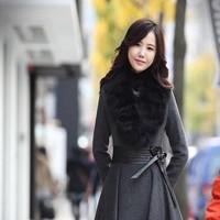 Đầm công sở thời trang đông chất da phối cổ lông ấm áp DXV135
