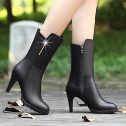 Giày bốt nữ cao cổ phong cách Hàn Quốc B029