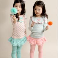 Bộ bé gái kiểu Hàn Quốc cao cấp Legging váy