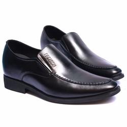 Giày da thật dáng công sở trẻ trung, đế tăng chiều cao 6,5cm