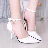 HÀNG NHẬP CAO CẤP -Giày nữ quai cài sang trọng đính đá mẫu mới nhất