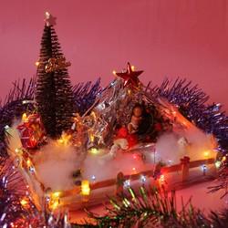 Hang đá Noel có đèn. Quà tặng giáng sinh độc đáo