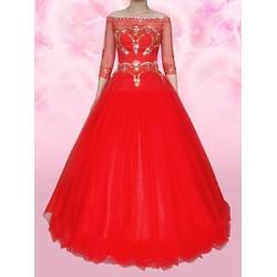 áo cưới đỏ tay dài