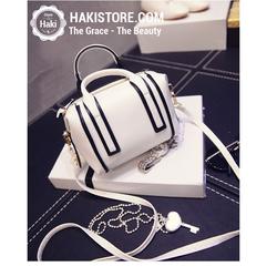 Túi xách đẹp viền 2 màu thời trang trẻ trung quyến rũ màu trắng