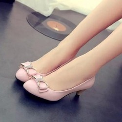 Giày nơ đá xinh xắn màu hồng