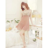 Váy Ngủ Kem Ren Ngực