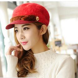 nón mũ  len lông thu đông thời trang Hàn Quốc Mùa đông không lạnh
